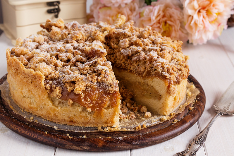 Best Coffee Cake Recipe King Arthur Flour: Recipe Of The Week: Apple Crumb Tart With Cinnamon Cream